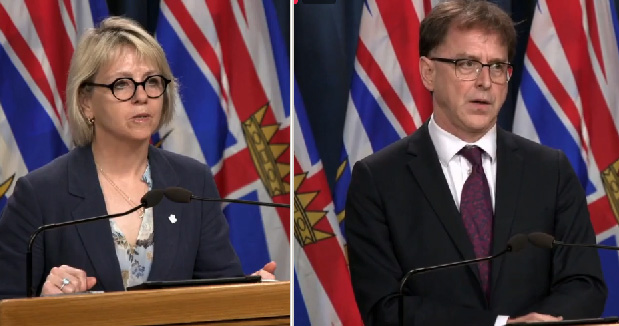 Provincial Health Officer Dr Bonnie Henry and Health Minister Adrian Dix