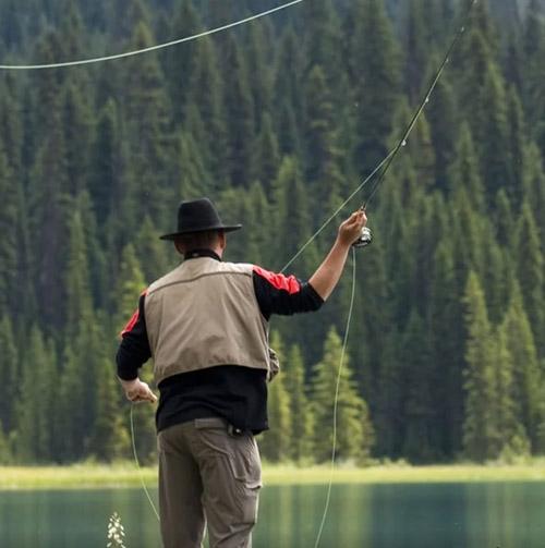 Fishing in Yoho National Park, BC interior