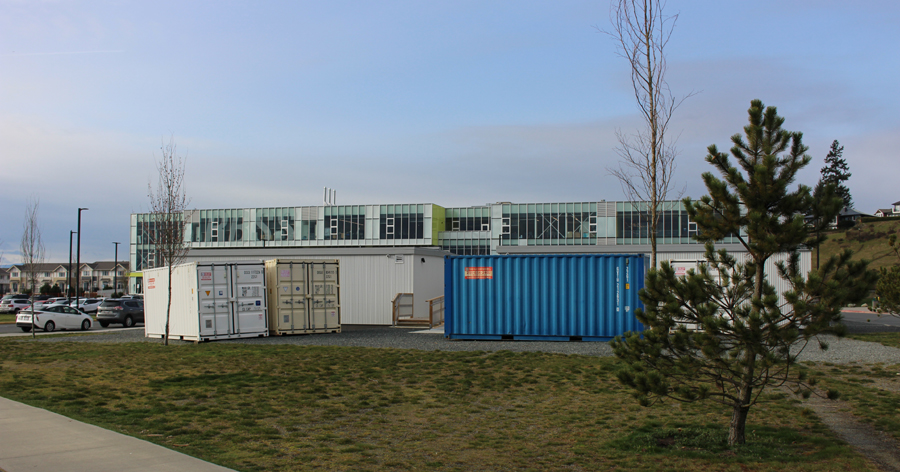 portables, Royal Bay Secondary, March 2020