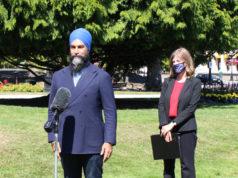 Jagmeet Singh, Laurel Collins, Victoria, August 14 2020