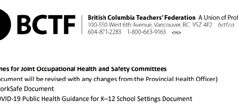 BCTF, COVID, guidelines