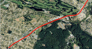 Island Highway through Colwood, map