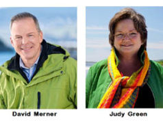 Green leadership candidates, David Merner, Judy Green