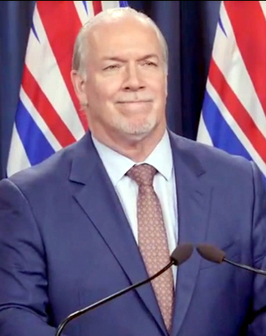 Premier John Horgan, August 12, 2020, Victoria