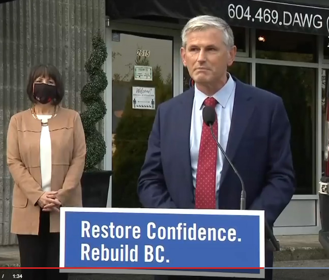 BC Liberal Leader, Andrew Wilkinson