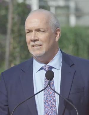 Premier John Horgan, NDP Leader, September 21 2020