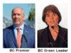 Premier John Horgan, BC Green Leader Sonia Furstenau