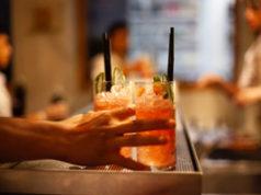 serving drinks in bar