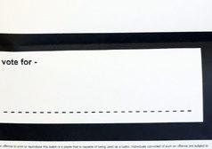 mail in ballot, blank