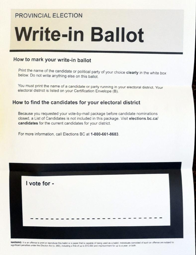 blank ballot, elections bc
