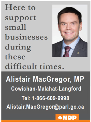 Alistair MacGregor, MP, Cowichan-Malahat-Langford
