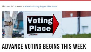 advance voting, voting by mail