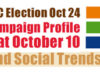 BC Election, campaign trail, October 10, 2020