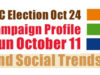 BC Election, campaign trail, October 11, 2020