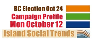 BC Election, campaign trail, October 12, 2020