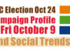 BC Election, campaign trail, October 9 2020