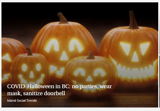 safe Halloween, COVID