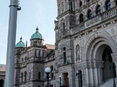 BC Parliament Building, november 2020, exterior