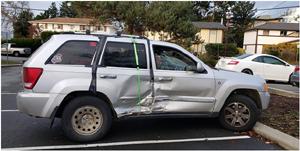 car, damaged