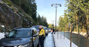 road check, West Shore RCMP, Bear Mountain