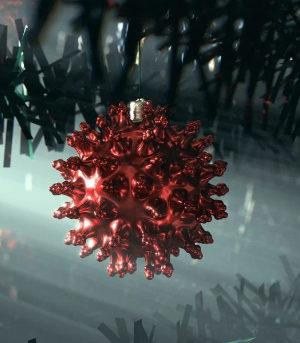 Christmas, COVID, virus, ornament