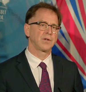 Health Minister, Adrian Dix, December 14, 2020