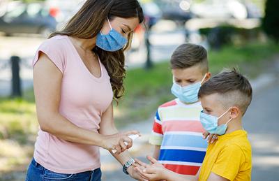 health care, sanitizer, family