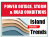 power outage, storm, road conditions