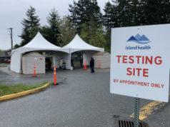 island health, COVID testing, site