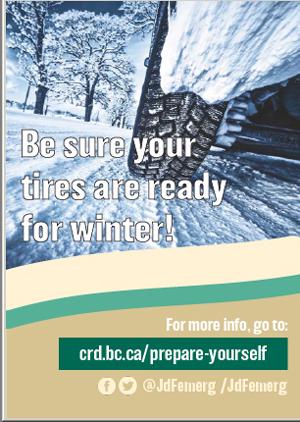 JDF emergency program, winter safety, tires