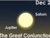 December 21, 2020, winter solstice, Jupiter & Saturn