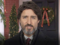 Prime Minister Justin Trudeau, Christmas 2020