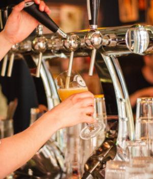 serving alcohol, bar