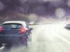wet roads, car, curve