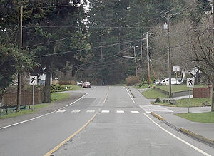crosswalk, Wishart Road at Salton Drive, Colwood