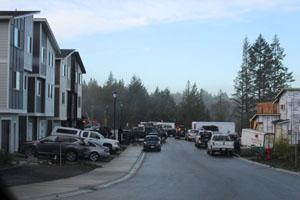new housing, Langford, January 2021
