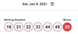 BC49, winning number, January 9 2021