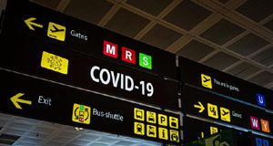 COVID, signage, airport, travel