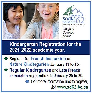 SD62, Kindergarten Registration, 2021