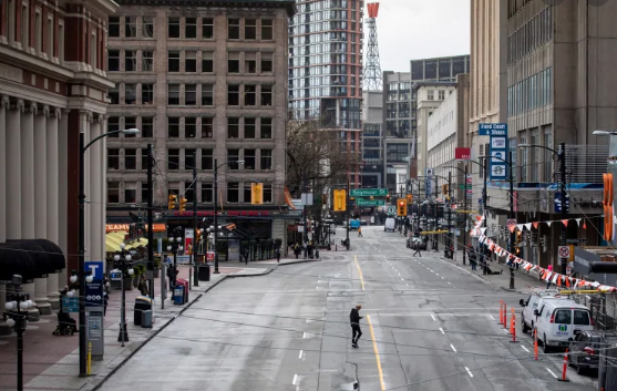empty street, Vancouver, pandemic