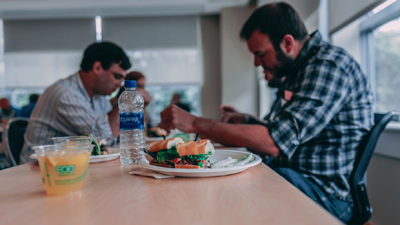 workers, lunchroom, COVID