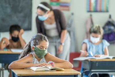 masks, students, BC school