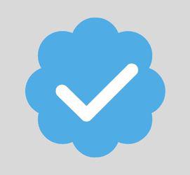 Twitter, verification symbol