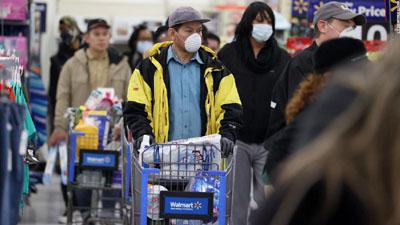 Walmart, shoppers, COVID