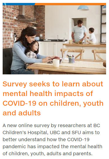 BCCH, COVID survey, youth, parents