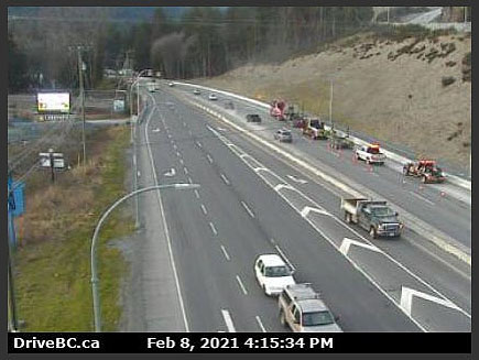 Highway 1, West Shore Parkway, 4:15 pm, February 8 2021