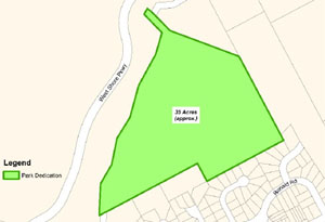 map, greenspace, Westhills