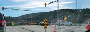 detour, highway 14, west shore parkway