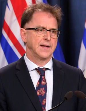 Adrian Dix, health minister, March 2021