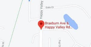 Happy Valley Rd, Braeburn Ave